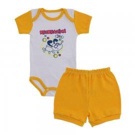 Imagem - Conjunto de Body e Short para Bebê Menino - 9936-conj-body-short-amarelo-ouro-d