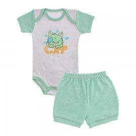 Imagem - Conjunto de Body e Short para Bebê Menino - 9936-body-shorts-verde-turtle
