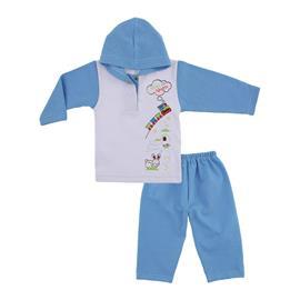 Imagem - Conjunto Bebê Moletinho Estampado - 9965-conj.bco-azul-trem-alegria