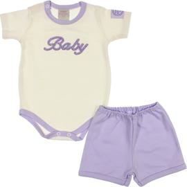 Imagem - Boby e Shorts Feminino Baby - 6585-lilas