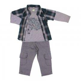 Imagem - Conjunto de Calça e Camisão e Camiseta Kids Minis - 6737-verde