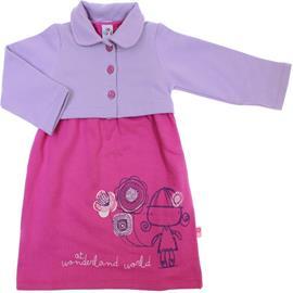 Imagem - Vestido Infantil com Bolerinho 6006 - 6006-pink/lilas