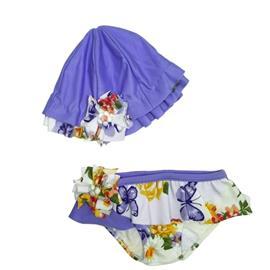 Imagem - Conjunto Menina para Praia 4925 - 4925 - Floral Lilas