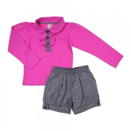 Imagem - Conjunto Infantil Menina Blusa e Shorts Fadas - 5788 - Pink