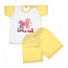 Imagem - Conjunto de Bebê Shorts e Camiseta Fish - 5936 - Amarelo