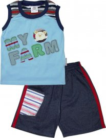 Imagem - Conjunto Infantil para Menino Regata Farm - 4839 - Azul