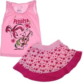 Imagem - Conjunto Infantil Saia e Camiseta Pedrita 5945 - 5945 - Rosa