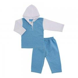 Imagem - Conjunto de Inverno em Moletinho Flanelado Lapuko - 9963-conj.moletinho-azul-bebe-lapuk