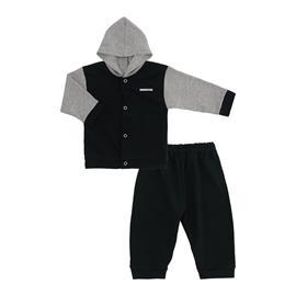 Imagem - Conjunto para Bebê em Suedine Lapuko - 10019-conjunto-suedine-chumbo-cinza