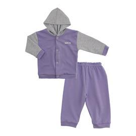 Imagem - Conjunto para Bebê em Suedine Lapuko - 10019-conj.suedine-lilas