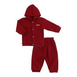 Imagem - Conjunto para Bebê em Suedine Lapuko - 10019-conjunto-suedine-vermelho