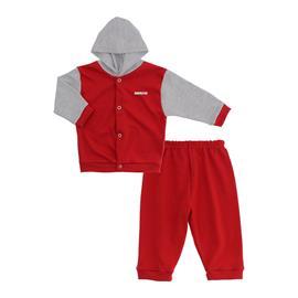 Imagem - Conjunto para Bebê em Suedine Lapuko - 10019-conjunto-suedine-vermelho-cin
