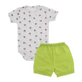 Imagem - Conjunto de Body e Shorts Lapuko - 10040-conj-body-short-cereja-verde