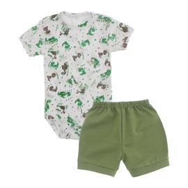 Imagem - Conjunto de Body e Shorts Lapuko - 10040-conj.body-short-dino-verde-ol