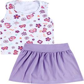 Imagem - Conjunto Infantil de Regata com Saia Primavera 4838 - 4838 Lilas