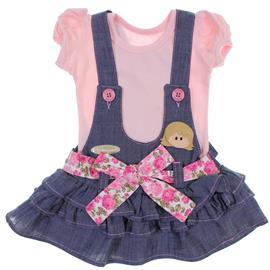 Conjunto Salopete Jeans para Bebê 6319