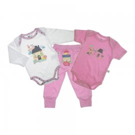 Imagem - Body Bebê e Calça Off You kit 3 peças Zigmundi - 5495-Body Bebê e Calça  3 pcs menin