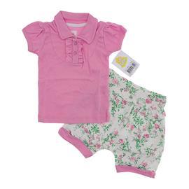 Imagem - Conjunto Bebê Blusa e Shorts Balonê Floral  - 5617 - Rosa
