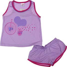 Imagem - Pijama Infantil de Verão Francyella  - 6071 -pijama-infantil-verão-lilas