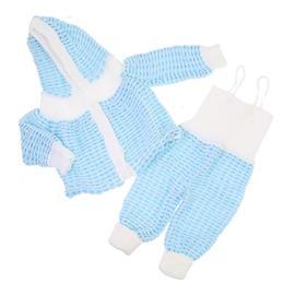 Jardineira com Casaco de Lã para Bebê Menino