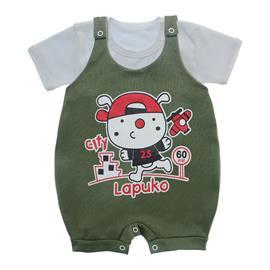 Imagem - Jardineira e Body para Bebê Lapuko - 10085-jardineira-city-verde