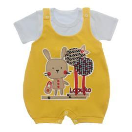 Jardineira e Body para Bebê Lapuko