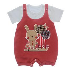 Imagem - Jardineira e Body para Bebê Lapuko - 10085-jardineira-coelha-telha