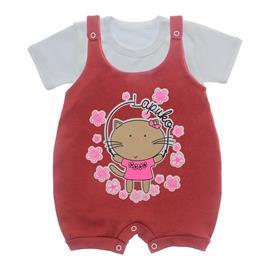 Imagem - Jardineira e Body para Bebê Lapuko - 10085-jardineira-gata-telha