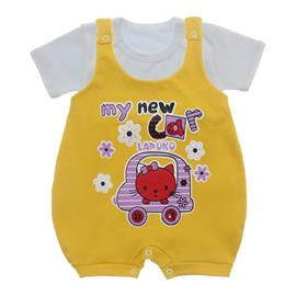 Imagem - Jardineira e Body para Bebê Lapuko - 10085-jardineira-my-car-amarelo-our