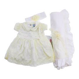Imagem - Saida de Maternidade com Vestido Paraiso - 8192-jogo-batizado-paraiso-renda