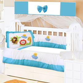 Kit Berço 9 Peças para Bebê Tigre 8743