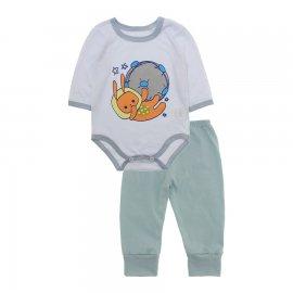 Imagem - Pijama para Bebê Body e Calça Lapuko - 10188-kit-body-calça-astronauta-cin