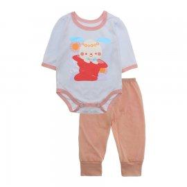 Imagem - Pijama para Bebê Body e Calça Lapuko - 10189-kit-body-calça-coelha-chapeu-