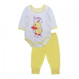 Imagem - Pijama para Bebê Body e Calça Lapuko - 10188-kit-body-calça-ducking-amare