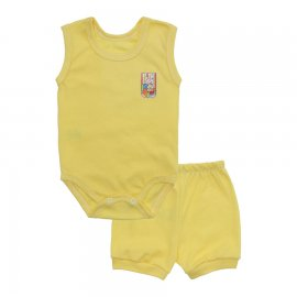Imagem - Kit Body Regata e Short Masculino Lapuko - 10214-kit-regata-short-amarelo