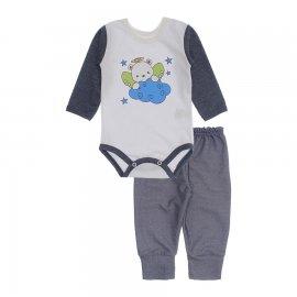 Imagem - Kit de Body e Calça de Bebê Lapuko - 10283-kit-body-calca-anjo-azul-mesc