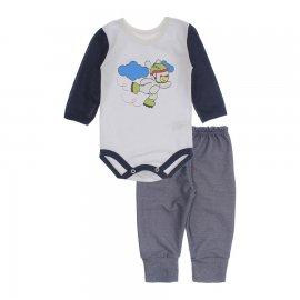 Imagem - Kit de Body e Calça de Bebê Lapuko - 10283-kit-body-calca-patinador-mari