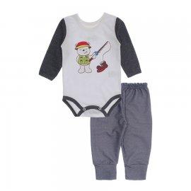 Imagem - Kit de Body e Calça de Bebê Lapuko - 10283-body-calca-pescador