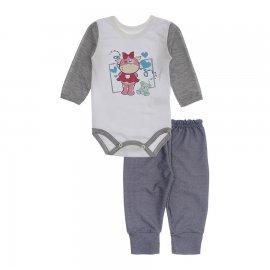Imagem - Kit de Body e Calça para Menina Lapuko - 10283-kit-body-calca-hipo-mescla