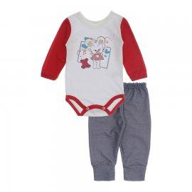 Imagem - Kit de Body e Calça para Menina Lapuko - 10283-kit-body-calca-ratinha-vermel