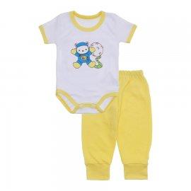 Imagem - Kit de Body Manga Curta e Calça Lapuko - 10222-kit-body-mc-calça-amarelo