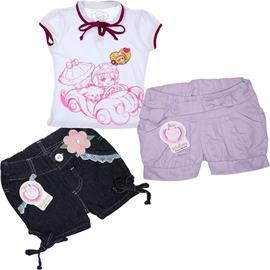 Super Oferta - Kit Infantil Menina 3 peças - Cod. 7010