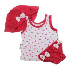 Imagem - Kit verão Bebê Menina 3 peças  - 9021-kit-verão-3pcs-vermelho