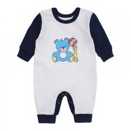 Imagem - Macacão Bebê Menino Lapuko - 10263-macacao-branco-marinho