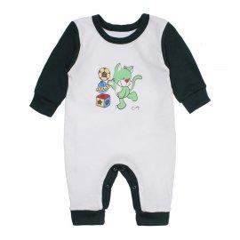 Imagem - Macacão Bebê Menino Lapuko - 10263-macacao-menino-branco-verde-e