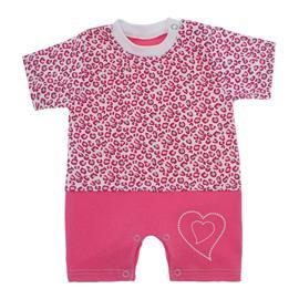 Imagem - Macacão de Bebê Menina Estampado - 9981-macacao-curto-oncinha-pink-gli
