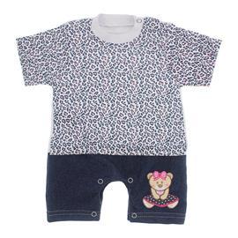 Imagem - Macacão de Bebê Menina Estampado - 9981-mac.curto-estampado-ursa-saia