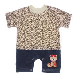 Imagem - Macacão de Bebê Menina Estampado - 9981-mac.curto-creme-Bear