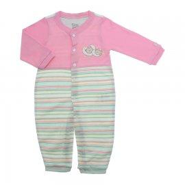 Imagem - Macacão Bebê Feminino Listrado Zigmundi  - 7290-macacão-menina-suedine-listrad