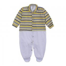 Imagem - Macacão Bebê Listrado Lapuko - 10257-macacao-listrado-amarelo
